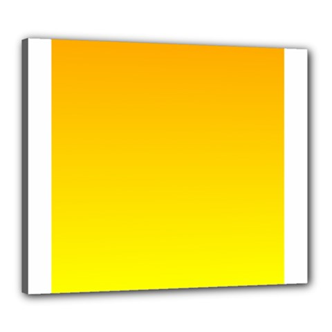 Chrome Yellow To Yellow Gradient Canvas 24  X 20  (framed)