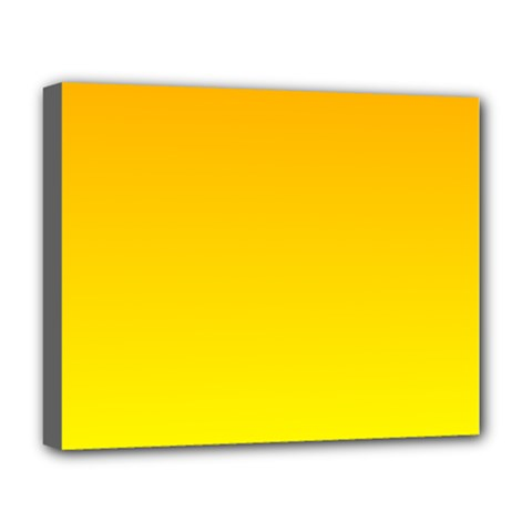 Chrome Yellow To Yellow Gradient Deluxe Canvas 20  X 16  (framed)