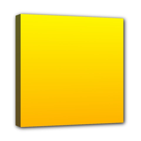 Yellow To Chrome Yellow Gradient Mini Canvas 8  x 8  (Framed)