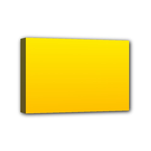 Yellow To Chrome Yellow Gradient Mini Canvas 6  x 4  (Framed)
