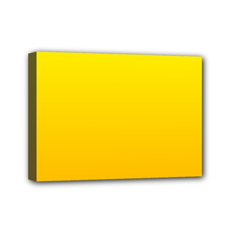 Yellow To Chrome Yellow Gradient Mini Canvas 7  X 5  (framed)