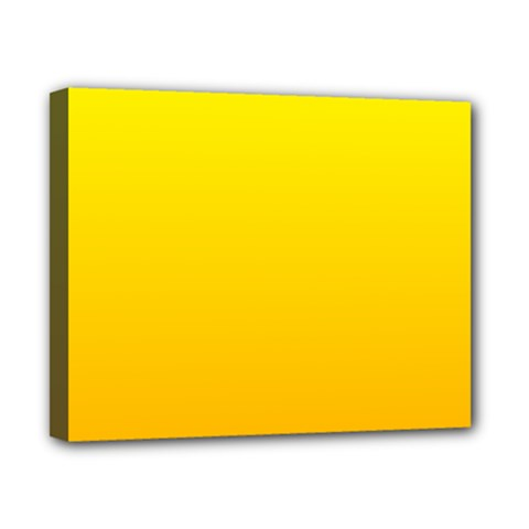 Yellow To Chrome Yellow Gradient Canvas 10  X 8  (framed)