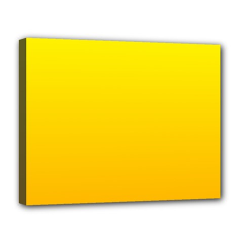 Yellow To Chrome Yellow Gradient Canvas 14  X 11  (framed)