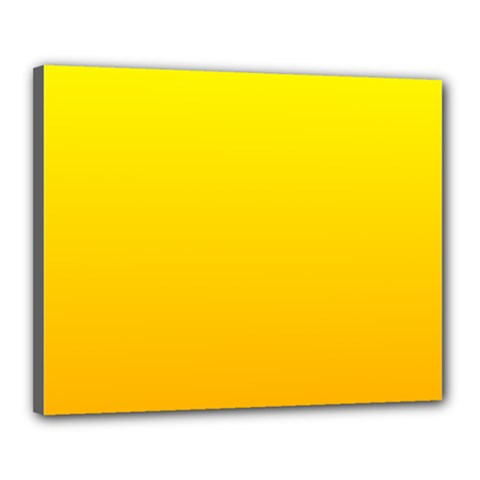 Yellow To Chrome Yellow Gradient Canvas 20  x 16  (Framed)