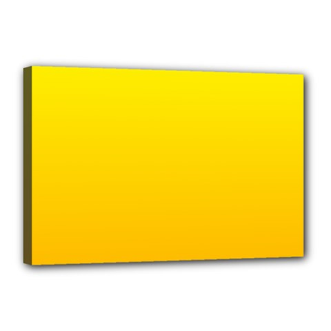 Yellow To Chrome Yellow Gradient Canvas 18  X 12  (framed)