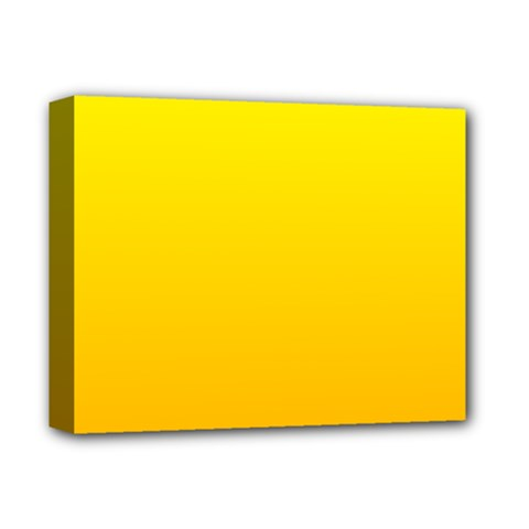 Yellow To Chrome Yellow Gradient Deluxe Canvas 14  x 11  (Framed)