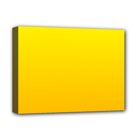 Yellow To Chrome Yellow Gradient Deluxe Canvas 16  x 12  (Framed)