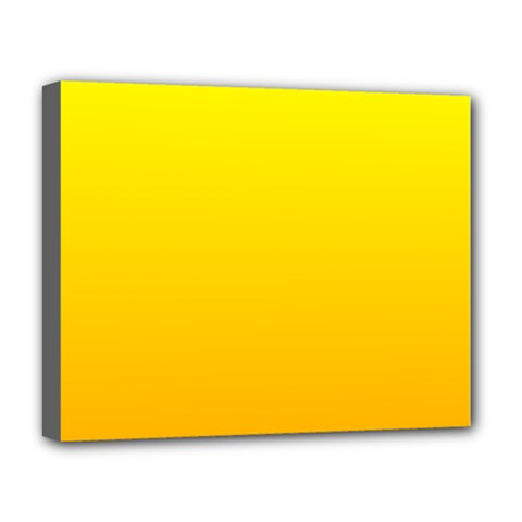 Yellow To Chrome Yellow Gradient Deluxe Canvas 20  X 16  (framed)