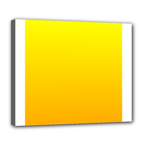 Yellow To Chrome Yellow Gradient Deluxe Canvas 24  x 20  (Framed)
