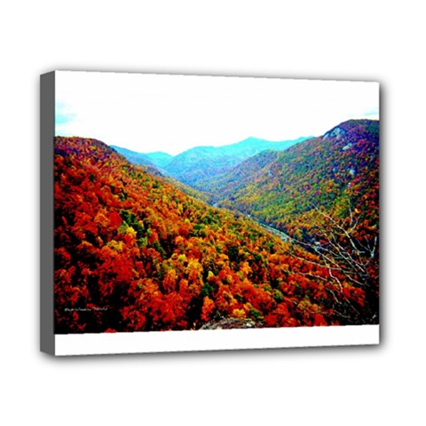 Through The Mountains Canvas 10  x 8  (Framed)