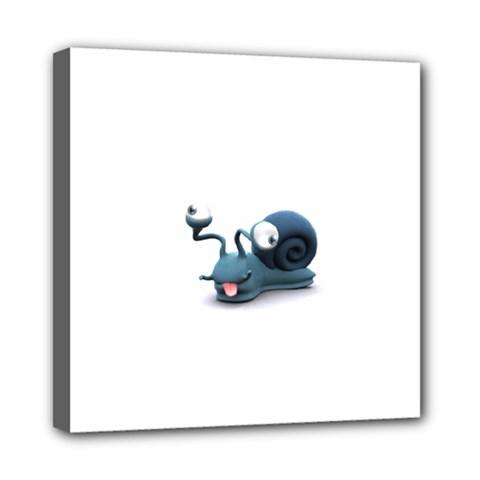 Funny Snail Mini Canvas 8  X 8  (framed)