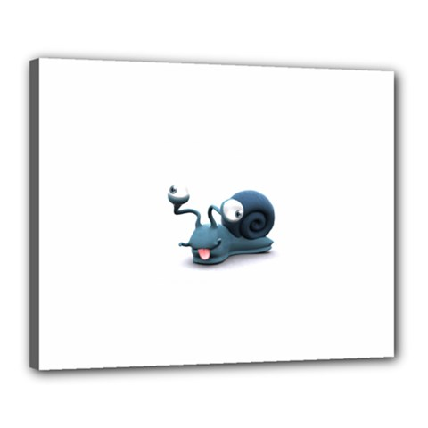 Funny Snail Canvas 20  x 16  (Framed)