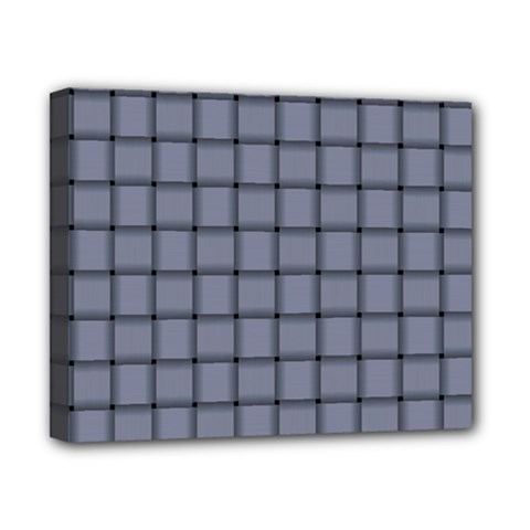 Cool Gray Weave Canvas 10  X 8  (framed)