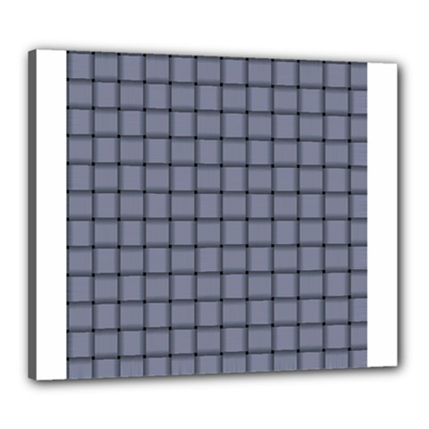 Cool Gray Weave Canvas 24  x 20  (Framed)