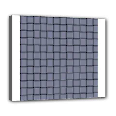 Cool Gray Weave Deluxe Canvas 24  X 20  (framed)