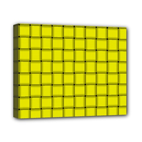 Yellow Weave Canvas 10  x 8  (Framed)