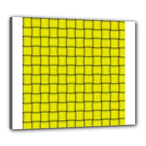 Yellow Weave Canvas 24  x 20  (Framed)