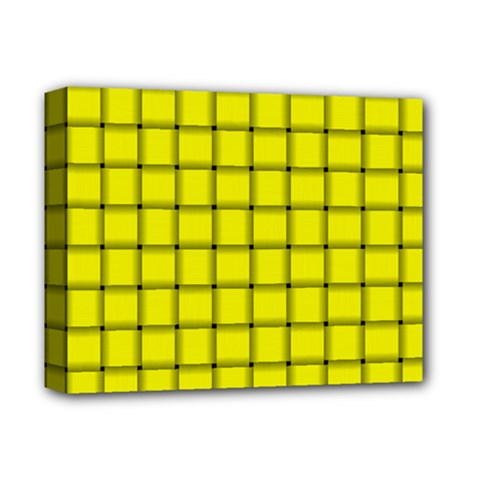 Yellow Weave Deluxe Canvas 14  x 11  (Framed)