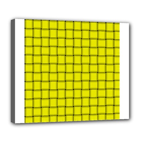 Yellow Weave Deluxe Canvas 24  x 20  (Framed)