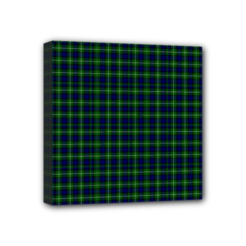 Lamont Tartan Mini Canvas 4  x 4  (Framed)