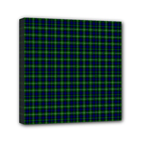 Lamont Tartan Mini Canvas 6  x 6  (Framed)