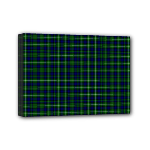 Lamont Tartan Mini Canvas 7  x 5  (Framed)