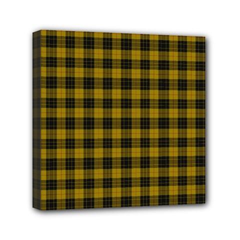 Macleod Tartan Mini Canvas 6  X 6  (framed)