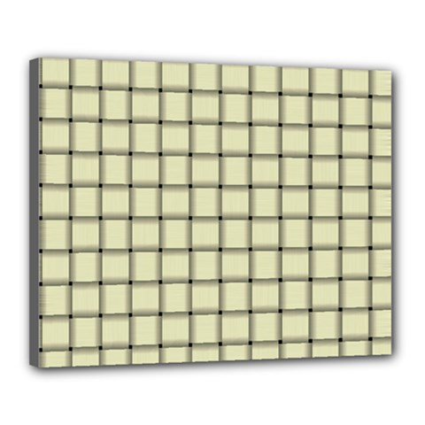 Cream Weave Canvas 20  X 16  (framed)