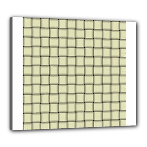 Cream Weave Canvas 24  x 20  (Framed)