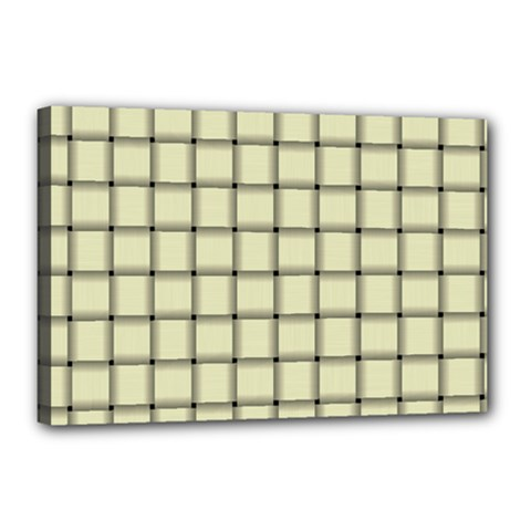 Cream Weave Canvas 18  x 12  (Framed)