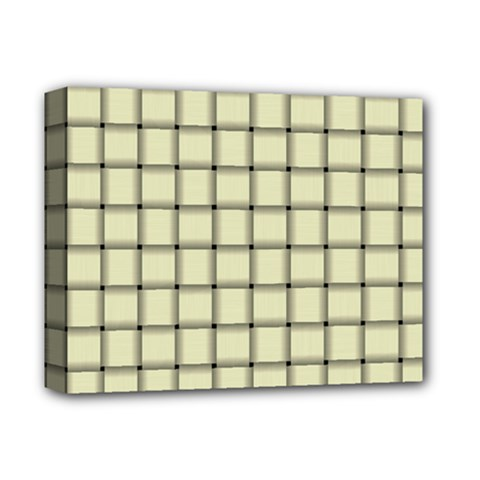 Cream Weave Deluxe Canvas 14  x 11  (Framed)