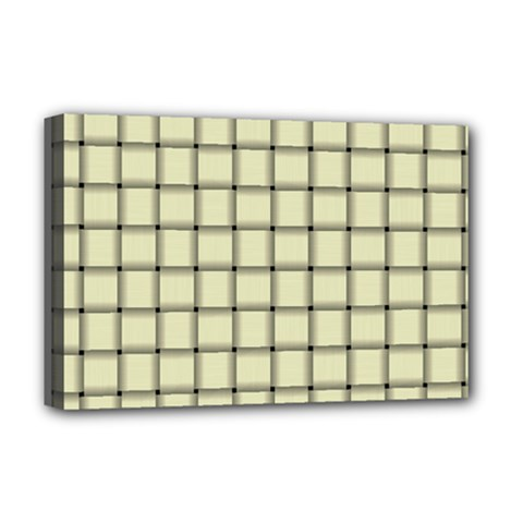 Cream Weave Deluxe Canvas 18  x 12  (Framed)