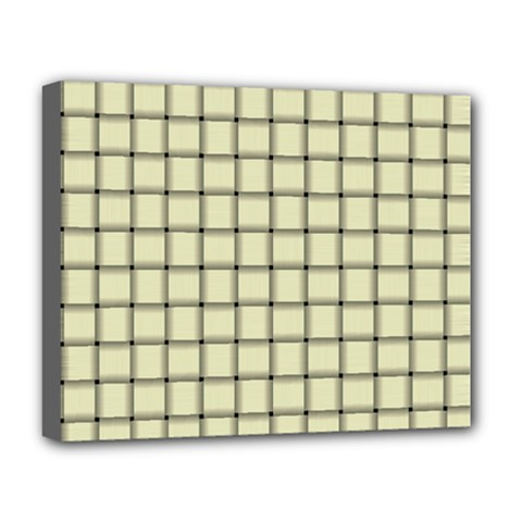 Cream Weave Deluxe Canvas 20  x 16  (Framed)