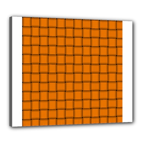 Orange Weave Canvas 24  x 20  (Framed)