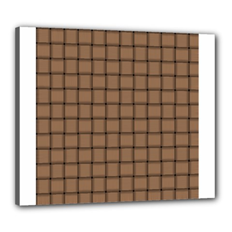 Cafe Au Lait Weave Canvas 24  X 20  (framed)