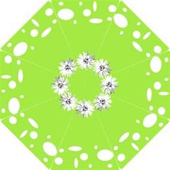 Daisy Circle Lime Bridesmaids Umbrella