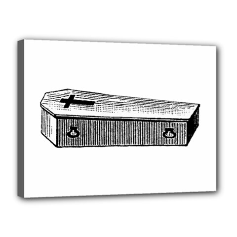 Coffin Canvas 16  x 12  (Framed)