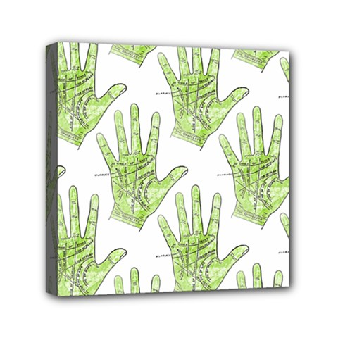 Palmistry Mini Canvas 6  x 6  (Framed)