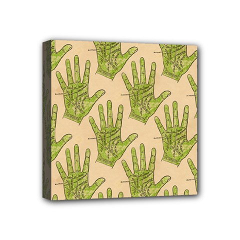 Palmistry Mini Canvas 4  x 4  (Framed)