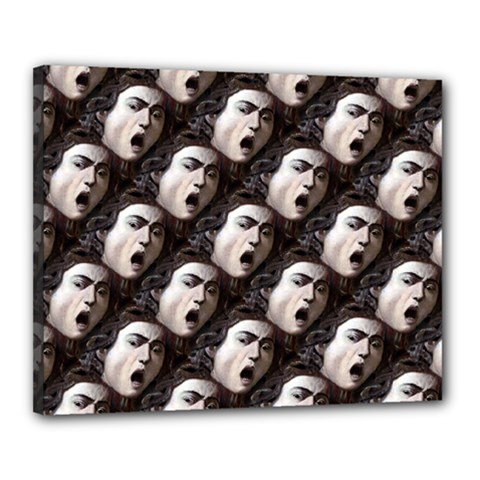 The Head Of The Medusa By Michelangelo Caravaggio 1590 Canvas 20  x 16  (Framed)
