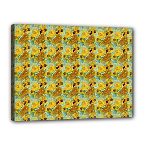 Vase With Twelve Sunflowers By Vincent Van Gogh 1889  Canvas 16  x 12  (Framed)