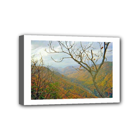 Way Above The Mountains Mini Canvas 6  X 4  (framed)