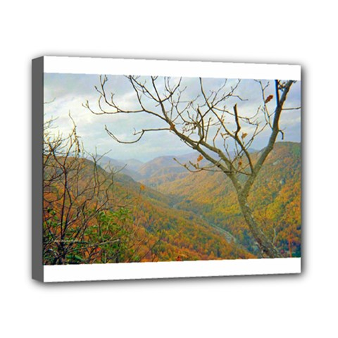 Way Above The Mountains Canvas 10  X 8  (framed)