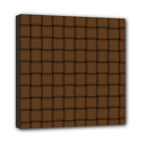 Brown Nose Weave Mini Canvas 8  x 8  (Framed)