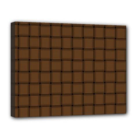 Brown Nose Weave Canvas 14  x 11  (Framed)