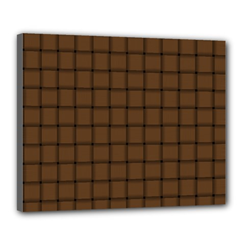 Brown Nose Weave Canvas 20  x 16  (Framed)