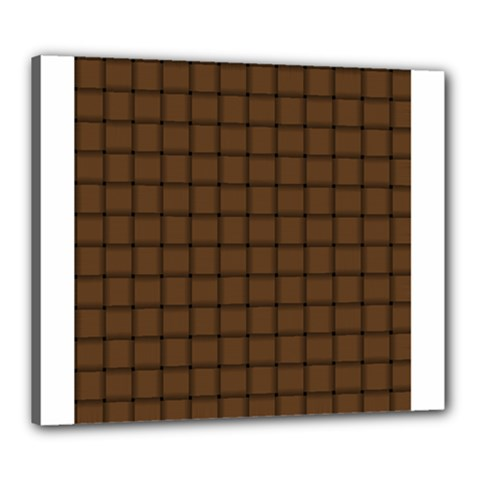 Brown Nose Weave Canvas 24  X 20  (framed)