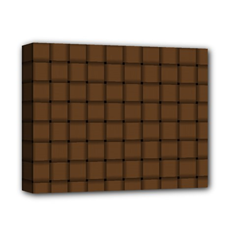 Brown Nose Weave Deluxe Canvas 14  X 11  (framed)