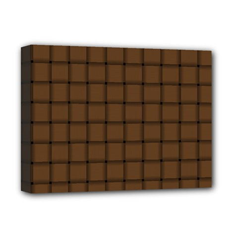 Brown Nose Weave Deluxe Canvas 16  x 12  (Framed)