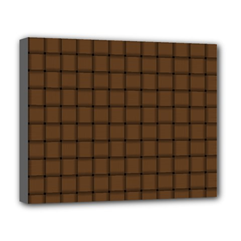 Brown Nose Weave Deluxe Canvas 20  X 16  (framed)
